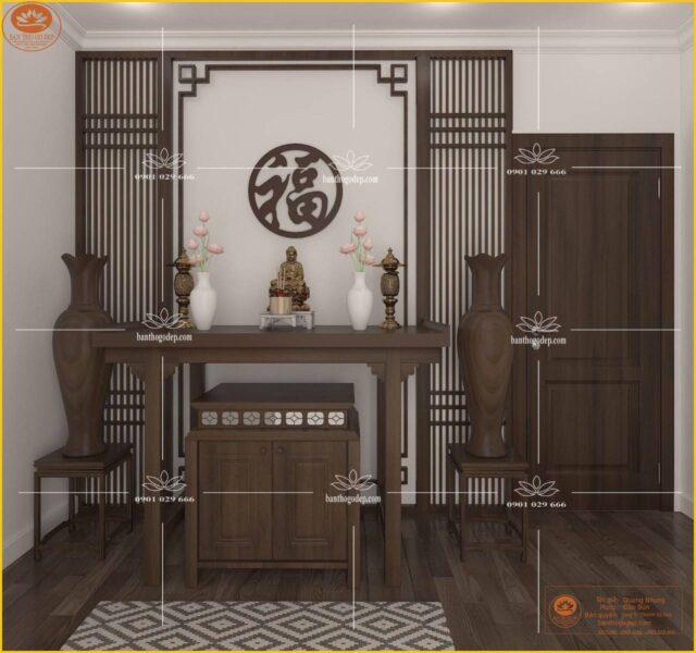 Bàn tủ thờ gỗ gụ đẹp BT33G
