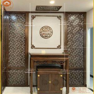Án gian thờ tủ thờ gỗ Gụ BT68 – Mẫu bàn thờ chung cư hiện đại