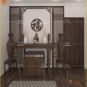 Bàn tủ thờ gỗ gụ đẹp BT33G – Mẫu phòng thờ đẹp gỗ gụ đẳng cấp