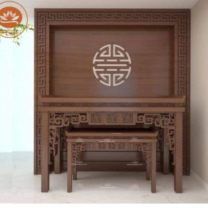 BÀN THỜ BT 881- Mẫu bàn thờ gia tiên