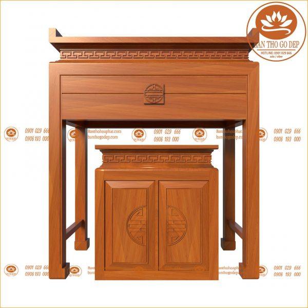 Mẫu tủ bàn thờ được sử dụng phổ biến