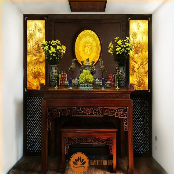 bàn thờ gia tiên nên đặt ở nơi yên tĩnh, thoáng đãng