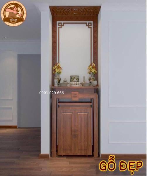 Mẫu bàn thờ bt 22 thiết kế đơn giản và hiện đại cho khách hàng ở dượng nội với chi phí rất hợp lý