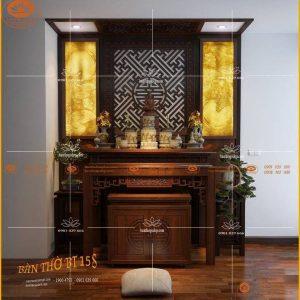 Bàn thờ đẹp gỗ tự nhiên BT19G – Tủ thờ gỗ gụ cao cấp