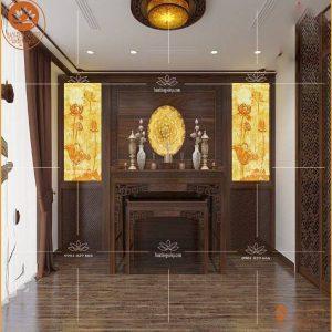 Án gian thờ gỗ gụ hiện đại BT58 – Phòng thờ đẹp 2020