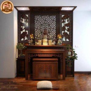 Bàn thờ đẹp gỗ tự nhiên BT19G