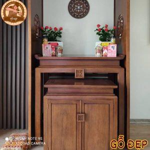 Mẫu bàn thờ gỗ gụ cao cấp BT22