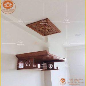 Bàn thờ treo tường gỗ hương TT01H – Bàn thờ chữ Thọ hiện đại
