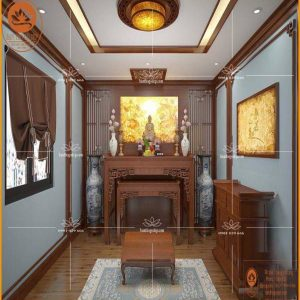 Mẫu bàn thờ gỗ hương hiện đại BT48 – Bàn thờ Phật đẹp