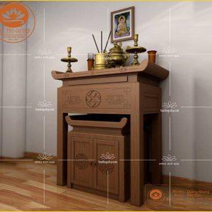 Bàn thờ đẹp gỗ tự nhiên cao cấp BT42S- an bình- thanh tịnh