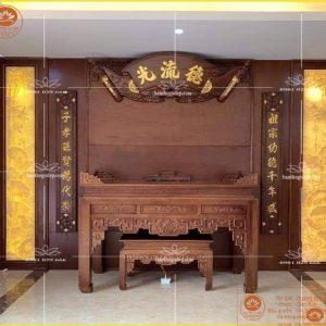 Bàn thờ gỗ mít đẹp BT91M – Án gian thờ gỗ đẹp cao cấp