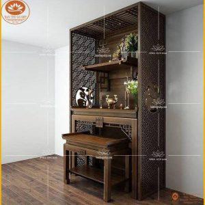 Tủ thờ chung cư đẹp BT26 – Bàn thờ Phật và gia tiên