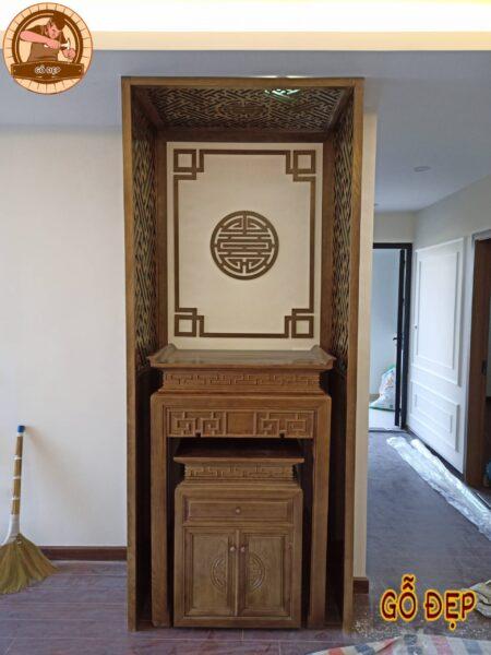 Mẫu bàn thờ bt 201 lắp đặt cho đối tác nội thất: địa chỉ lắp tại tòa nhà Bea sky - nguyễn xiển - hà nội.