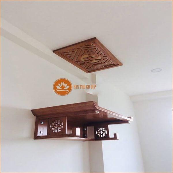 Tủ thờ treo tường – Giải pháp hoàn hảo cho nhà có diện tích nhỏ