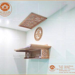 Mẫu bàn thờ treo tường 2 tầng TT01S – Mẫu bàn thờ chung cư đẹp