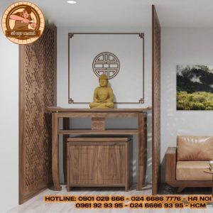 Mẫu bàn thờ gỗ gõ đỏ cao cấp BT88
