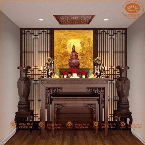 Cách bài trí bàn thờ phật mang lại bình an, may mắn cho gia chủ