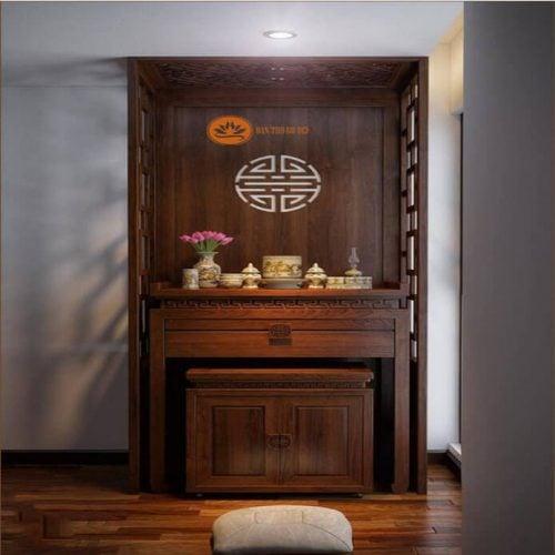 Tủ thờ gỗ hương và những ưu điểm vượt trội của loại gỗ quý tộc