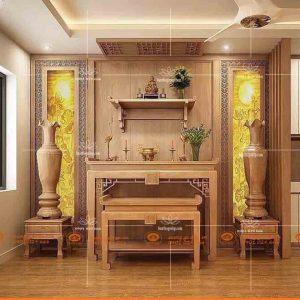 Mẫu bàn thờ chung cư cao cấp BT36G- Bàn thờ kích thước phong thủy