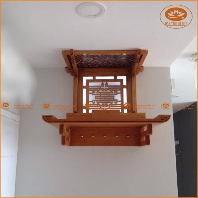 Mẫu bàn thờ treo rất nhỏ gọn, chiếm ít diện tích