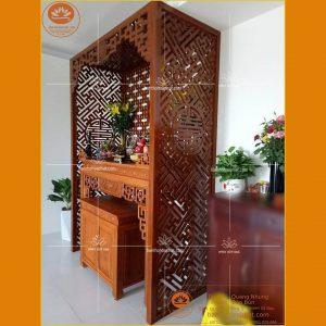 Bàn tủ thờ gỗ hương đẹp hiện đại BT97 – Tủ thờ gỗ hương triện sen