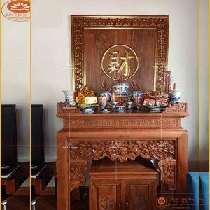 Tủ thờ gỗ hương đẹp BT50H – Sập thờ gỗ hương hiện đại cao cấp