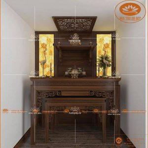 Mẫu bàn thờ 3 tầng đẹp BT48G – Bàn thờ Phật và gia tiên gỗ gụ