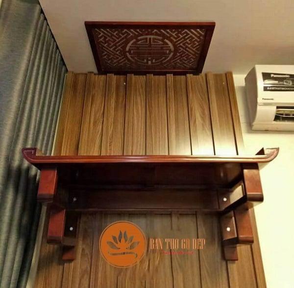 Bàn thờ treo tường thông minh gỗ hương