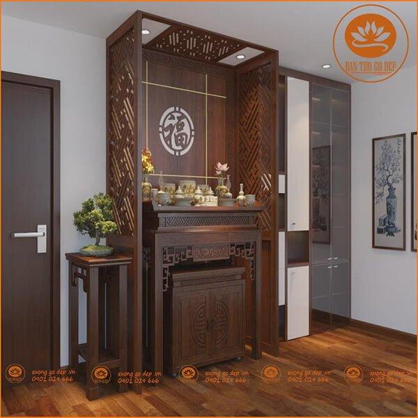 Sản phẩm của Bàn thờ gỗ đẹp lắp đặt cho khách