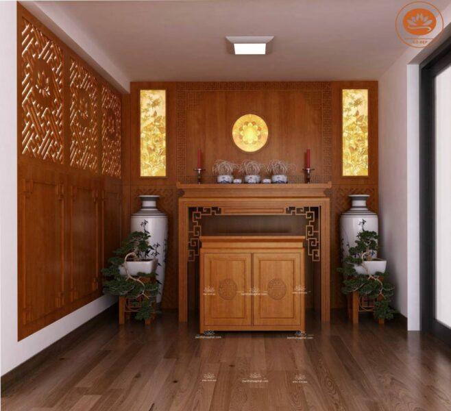 Tủ thờ gỗ sồi đẹp nhất 2021