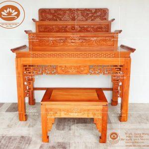 Bàn thờ Phật và gia tiên BT66G – Bàn thờ tam cấp đẹp gỗ gõ