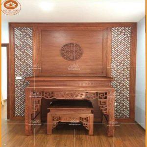 Sập thờ gỗ hương đỏ BT08H – Sập thờ đẹp hiện đại đẳng cấp