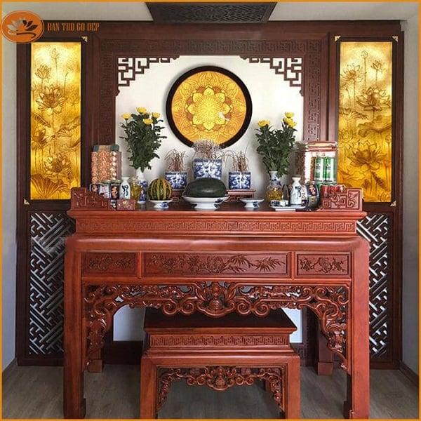 Đặt bàn thờ vị trí nào trong phòng khách?