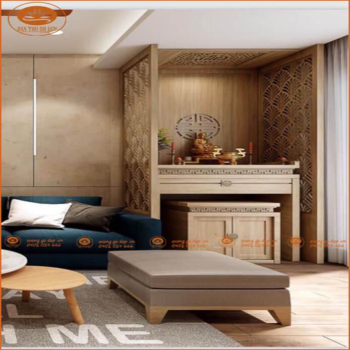 Bàn thờ chung cư tiết kiệm không gian được sử dụng phổ biến