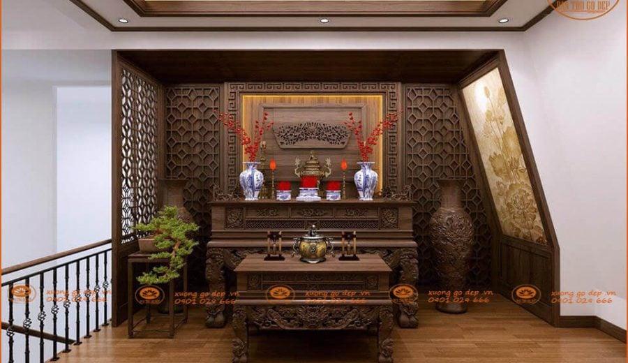 Bàn Thờ Gỗ Đẹp- Đơn vị sản xuất, thiết kế và thi công nội thất thờ số 1 Việt Nam