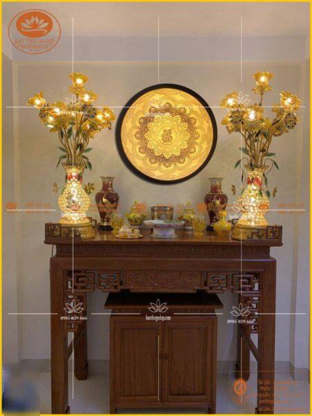 Mẫu sản phẩm tranh thờ tại bàn thờ Gỗ Đẹp.