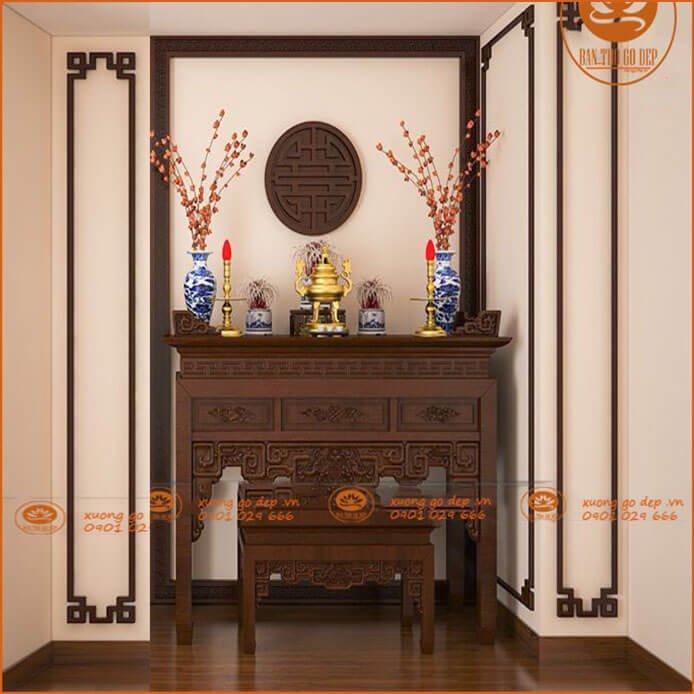 Án gian gỗ gụ mang nhiều ưu điểm nổi bật