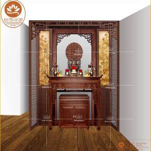 Bàn thờ gỗ đẹp BT08 – Bàn thờ gia tiên thuận thêm đinh