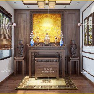 Án gian thờ đẹp hiện đại BT67- Bàn thờ tủ thờ chung cư