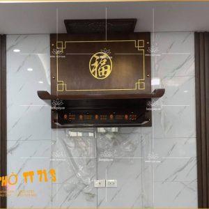Bàn thờ treo tường TT71S – Kệ thờ gỗ treo tường hiện đại