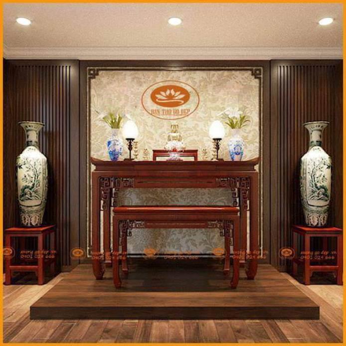 Án gian thờ gỗ hương đẹp như những tác phẩm nghệ thuật