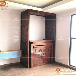 Tủ thờ gỗ hương BT37H- Mẫu bàn thờ chung cư đẹp hiện đại