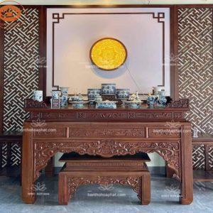 Bàn thờ Phật BT66G – Bàn thờ tam cấp đẹp gỗ gõ