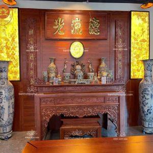 Bàn thờ gỗ hương BT03 – Bàn thờ tinh tế hiện đại