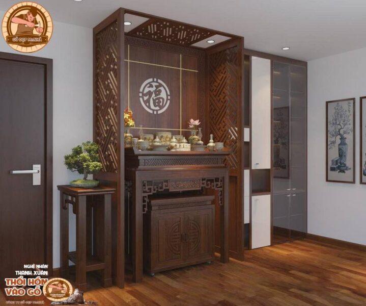 Mẫu bàn thờ đẹp gỗ mít BT19