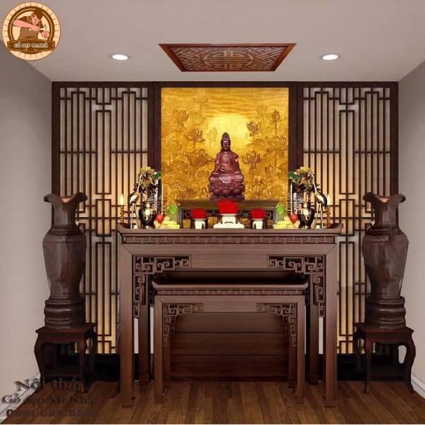 Thiết kế phòng thờ tân cổ điển cho không gian thờ cúng