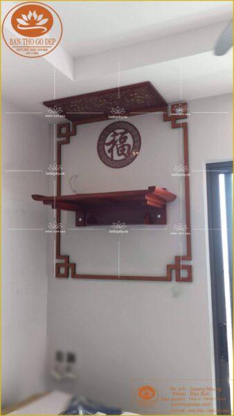 Bàn thờ treo tường gỗ hương được sử dụng phổ biến
