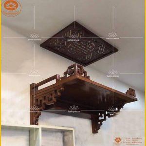 Bàn thờ treo tường TT24 – Bàn thờ chung cư đẹp hiện đại