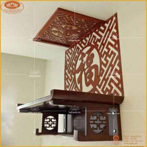 Bàn thờ treo tường gỗ sồi TT37S – Bàn thờ treo tường hiện đại HCM