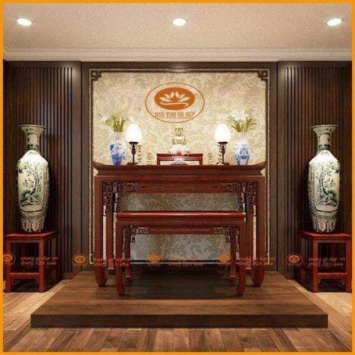 Bàn thờ gỗ – Nét đẹp truyền thống trường tồn qua từng thế hệ